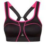 Voorkant Padded Athletic Sportbeha zwart/roze 0095-2620