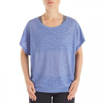 Short Sleeve Burnout blauw 2740-4170